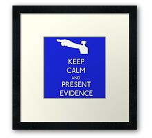 Keep Calm Phoenix Wright T-Shirt Ace Attorney Framed Print