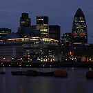 City of London Skyline at Night by Iain McGillivray