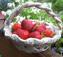 STRAWBERRIES IN A BASKET  by MsLiz