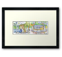 banana cafe. lisbon Framed Print
