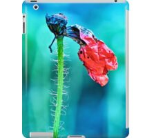faded poppy flower hanging on the stalk iPad Case/Skin