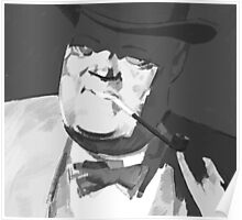 Mafia boss with tobacco pipe Poster