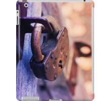 Lock on Fence for Security iPad Case/Skin