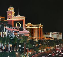 Las Vegas Strip Painting Oil on Canvas by daverives