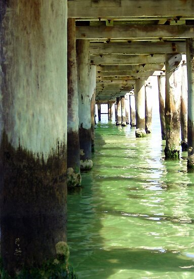 Below the pier by Carmel Abblitt