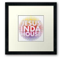 Jesus inda house Framed Print