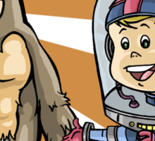 SpaceKid and a Joe...the Brown Furred Snaggletooth Sticker