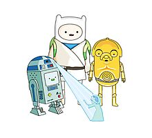 Adventure Time - Star Wars Photographic Print