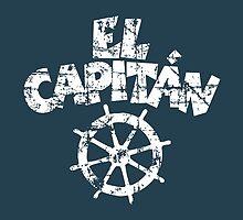 El Capitán Wheel Vintage White by theshirtshops