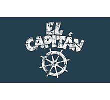 El Capitán Wheel Vintage White Photographic Print