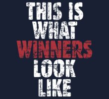 THIS IS WHAT WINNERS LOOK LIKE (Vintage White/Red) Kids Clothes