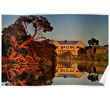 """Morning Reflections at The Minya Winery"" Poster"