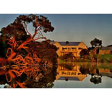 """Morning Reflections at The Minya Winery"" Photographic Print"