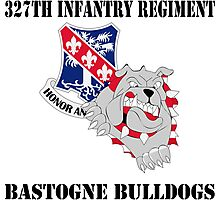 327th Infantry Regiment - Honor and Country - Bastogne Bulldogs Photographic Print