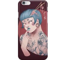 Blue Willow Tattoo Girl iPhone Case/Skin