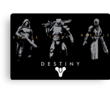Destiny Hunter Titan Warlock Action Figure Canvas Print