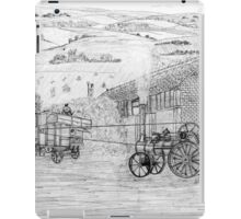 My pencil drawing of Steam Threshing in Yorkshire - all products iPad Case/Skin