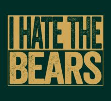 I Hate The Bears - Green Bay Packers T-Shirt - Show Your Team Spirit - Gold Box Design - Haters Gonna Hate by BeefShirts