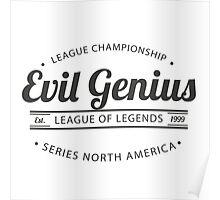 Vintage Evil Genius Poster