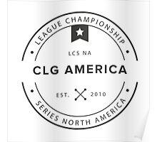Vintage CLG America Dark Poster
