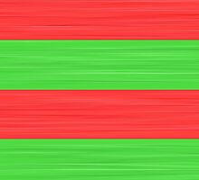 Brush Stroke Stripes: Red and Green by katmun