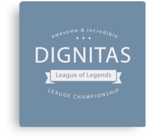 Vintage Dignitas Whiteout Canvas Print