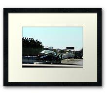 Car Accident Framed Print