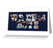 Dallas Cowboys Offense - We Dem Boyz Greeting Card