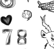 Louis Tattoos Sticker