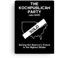 Kochpublican Party Canvas Print