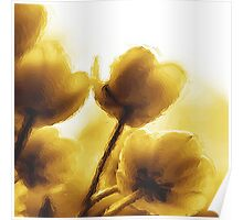 Sepia Tulips Poster