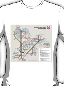 Walt Disney World Transportation as a Subway Map T-Shirt