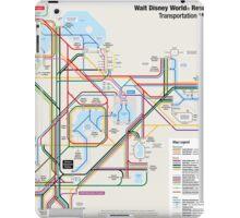 Walt Disney World Transportation as a Subway Map iPad Case/Skin