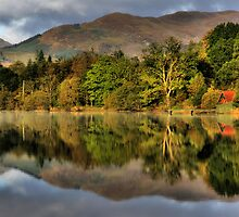 Autumn colours at Loch Ard by Linda  Morrison