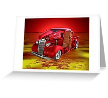 Red Pick Up Reflected Greeting Card