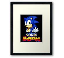 Classic Sonic Boom Framed Print