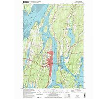 Maine USGS Historical Map Bath 104901 2000 24000 Photographic Print