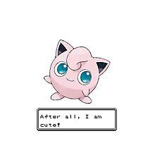 Pokemon Jigglypuff Cute Photographic Print
