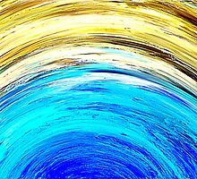 Colorful Abstract Painting Original Art Titled: Meteor Shower 2 by ZeeClark