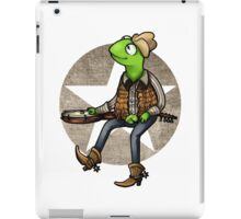 nothing haults this frog iPad Case/Skin