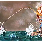 Tuna, CHICKEN of the Sea (Water-colour on cold--press illust Board) by Rory Stapleton