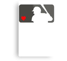 MLB Baseball Love At Night Metal Print