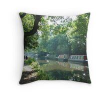 Summer on the River Wey Navigation, Wisley, Surrey, U.K. Throw Pillow