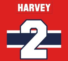 Doug Harvey #2 - red jersey Kids Clothes