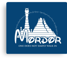 Disney Mordor Canvas Print
