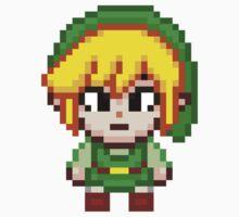 Toon Link - Smash Bros Mini Pixel by geekmythology