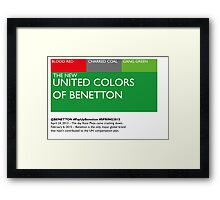 The New United Colors of Benetton Framed Print