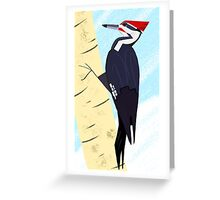 Pileated Woodpecker in Winter Greeting Card