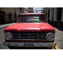 Red Fargo Photographic Print
