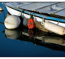 Mirrored Old Buoys by Astrid Pardew